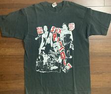 Vintage 1990's Sex Pistols T-shirt Black Single Stitch Cotton Size L Rare