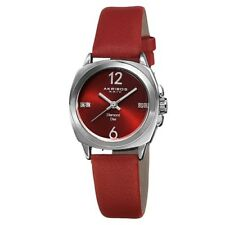 (NEW) Akribos XXIV Women's AK742RD Lady Diamond Analog Display Swiss Quartz Red