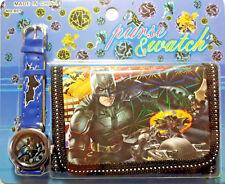 HOT Batman Dark Knight Kids Boys Child Wrist Watch and Purse Wallet SET