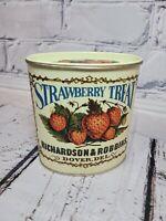 Vintage Bristol Ware Strawberry Treat Tin Burlington, New Jersey Made in USA