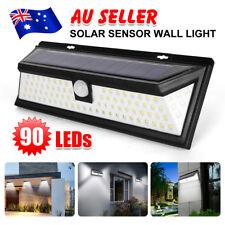 90 LED Solar Powered PIR Motion Sensor Outdoor Garden Security Wall Light