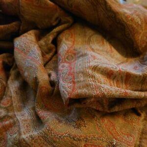 Antique Victorian Woven Paisley Kashmir Shawl Large Piece