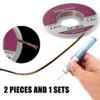 Flux Pen Flussmittel Stift mit 2mm Entlötlitze Spule Kupfer Docht Kabel Draht