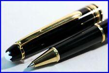 MONTBLANC CLASSIQUE 163 Meisterstück Fineliner Pen SCHWARZ & GOLD / neuwertig