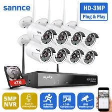 SANNCE 3MP Videosorveglianza Wireless Telecamere 8CH 5MP NVR Accesso Remoto IP66
