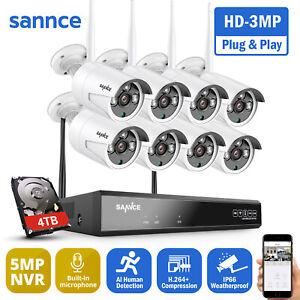 SANNCE 3MP Sans Fil Caméra Surveillance WIFI 8CH 5MP NVR IP Caméra de Sécurité