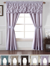Alcove Home Carmen Complete 5 Pc. Window in a Bag Curtain Set - Assorted Colors