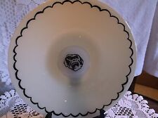 vintage hand blown glass charger w/ gorilla face