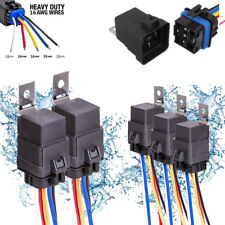 5Pcs 5-pin SPDT 12V 40A/30A Waterproof Auto Car Relay Switch Harness 16AWG Wire