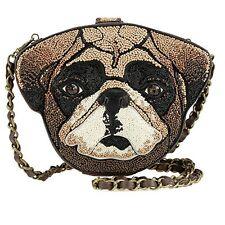 New Mary Frances Mr. Beebs Dog Pug Canine Puppy Bag Handbag evening Purse Beaded