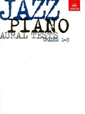 JAZZ PIANO AURAL TESTS Grades 1 - 3  ABRSM Exam Music Book