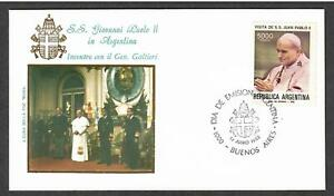 Argentina # 1367 , Pope John Paul II Visit to Argentina FDC - I Combine S/H