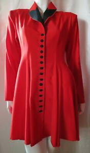 Kleid Mantelkleid Blusenjacke, rot mit schwarz, geknöpft, Gr. 42, NEU