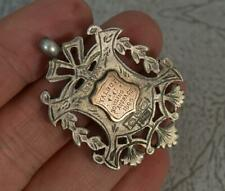 Victorian Solid Silver & Rose Gold Medal Pocket Watch Fob Pendant