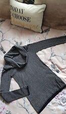 ZARA Black White Striped Turtleneck Sweater Jumper Women UK Size S