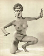 1950s Female Nude Asian Euro Indian John Everard Vintage Photo Gravure Print