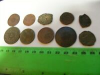 Lot of 10 ANTIQUE Ottoman/Muslim Bronze Coins,mixed good condition used.