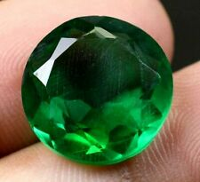 Colombian 10.95Ct Natural Green Emerald Round Cut Loose Gemstone Certified A0648