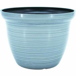 "Galena GRAY 7"" Diamater 5.5"" Height Resin Garden Planter Flower Pot"