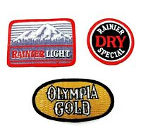 Rainer Beer Patches Vintage Rainer and Dry Rainer Light Olympia Gold Lot of 3