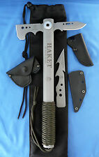 Tops Knives Haket Tactical Axe/Knife w/Alligator Alley1095 Carbon Steel