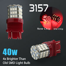 2X 3157/3156 40W Red LED Rear Brake Stop High Power Tail Lamp Light Bulbs Pair