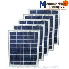 5 - 12 Volt 15 Watt 15W max Polycrystalline 36 Cell Solar Panels PV Photovoltaic