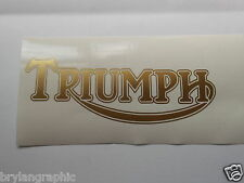 """Triumph"" Logo Vinyl car, truck, ute, bike  decal - choose colour"