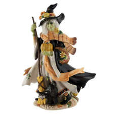 Fitz and Floyd Halloween Ceramic Hand Painted Harvest Witch Figurine @