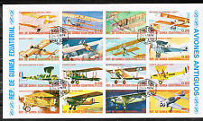 Equatorial Guinea Aviation Aircrafts History stamps minisheet 1974 imperforated