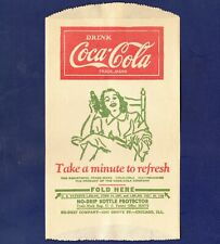UNUSED 1940s VINTAGE COCA-COLA DRY SERVER (WOMAN IN CHAIR HOLDING BOTTLE)