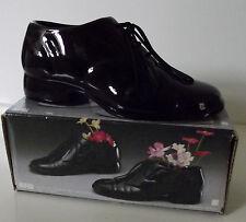 Mini Black Ceramic Shoe Planter.