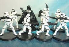 Star Wars Miniatures Lot  Darth Vader Dark Jedi Heavy Stormtrooper !!  s97