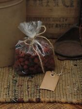 Primitive~Country~ Rosehips~Cinnamon Sticks~Coffee Stained Hang Tag~Scented~