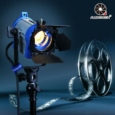 150W Pro Movie Fresnel Tungsten Spotlight Lighting Studio Video+Bulb+Barndoor