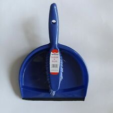 WILKOS Blue Plastic Utility Cleaning Dustpan Hand Brush NEW