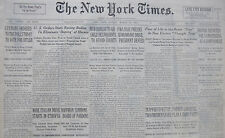 3-1936 March 29 WIDE ITALIAN DRIVE START ETHIOPIA GERMANS ORDERED TO VOTE HITLER