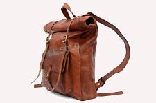 Handmade Roll Top Backpack / Rucksack Rolling Bag travel Bikers Bag
