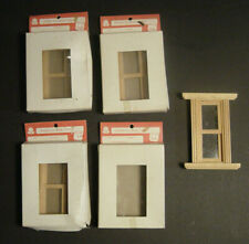 Lot of 4 New Dollhouse Windows Frank's Nursery & Craft Vtg Wooden Wood NOS NIB