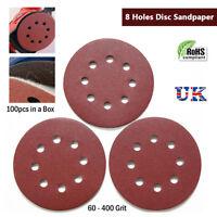 125mm Sanding Disk Hook/Loop Sanding Discs Random Orbital Circular Sander 100pcs