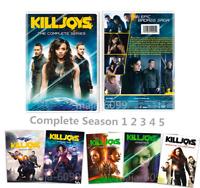 Killjoys (DVD,10-Disc,Region 1 US) The Complete Series Season 1-5 Free Shipment