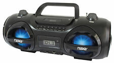 NPB-258 NAXA MP3 /CD PARTY BOOMBOX and USB/SD PLAYER with AM/FM RADIO LED LIGHTS