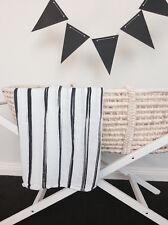 Baby 100 Bamboo Muslin Wrap Monochrome 120x120cm Stripe Design