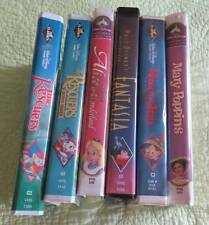 LOT Disney Diamond VCR Videotape VHS  Rescuer Alice Pinocchio Fantasia Poppins