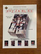 New Michael Jordan Puzzables Upper Deck Blocks Puzzle 1995 NBA Collectible UD