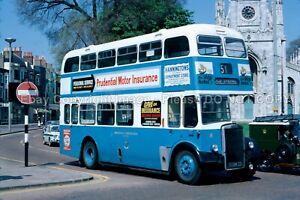 Original Bus Slide: Brighton Corporation Leyland PD2 5008CD in Brighton May 1971
