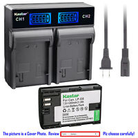 Kastar Battery LCD Rapid Dual Charger for Canon LPE6 LP-E6N LC-E6 Canon EOS 60Da