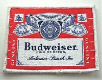 Vintage Budweiser Beer Label Distributor Litho Cloth Patch 1990's NOS New