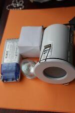 Alto AL8868 (Robus) con resistenza al fuoco IP65 Lucido Bianco/Vetro Opale proiettorino da incasso LV KIT