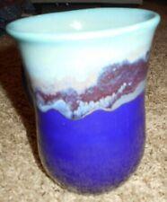 Clay in Motion Nehar Pottery Mystic Water Handwarmer Tea/Coffee  Mug Left Handed